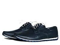 Мужские кожаные спортивные туфли на шнурках