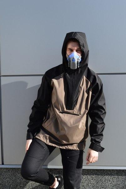 """Анорак мужской бежево-черный бренд """"ТУР"""" модель Shadow"""