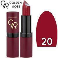 Губная помада матовая Golden Rose Velvet Matte Lipstick Тон 20 Plum red