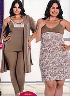 Батальний набор халат, лосіни, майка, нічна сорочка