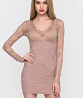 Женское гипюровое короткое платье (401434 sk)
