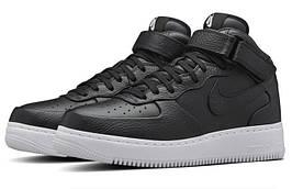 Женские кроссовки NikeLab Air Force 1 Mid CMFT Black, реплика, супер качество!