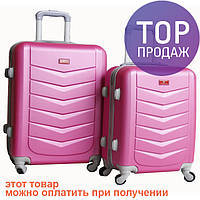 Стильный пластиковый чемодан, 510405 / дорожный чемодан