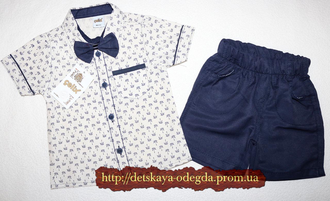 Рубашка+шорты с бабочкой 1,2,3,4 года