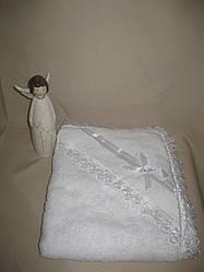 Крижмо «Вельможа». Крещение ребенка - крыжма. Полотенце, плед с уголком, капюшоном. Крыжмы. Плед для ребенка
