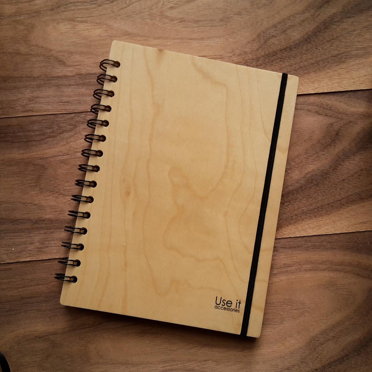"Деревянный блокнот ""Клён"" А6 (бумага 105х148 мм)"