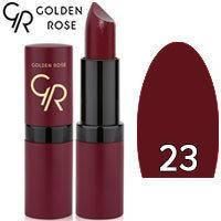 Губная помада матовая Golden Rose Velvet Matte Lipstick Тон 23 Dark plum