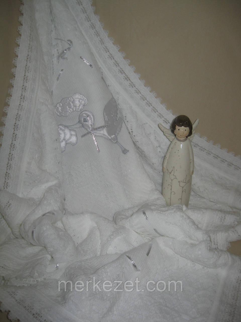 Крыжма «Изысканость». Крещение ребенка - крижма. Плед для новорожденного, крыжма