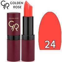 Губная помада матовая Golden Rose Velvet Matte Lipstick Тон 24 Red coral