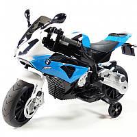 Детский мотоцикл BMW JT 528 E-4: 12V, 90W, EVA, 3-7 км/ч-Синий-купить оптом, фото 1
