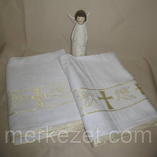 """Махровое полотенце для крещения новорожденного """"Таинство"""". Крыжма. Крижмо. Крыжма для крестин ребенка"""