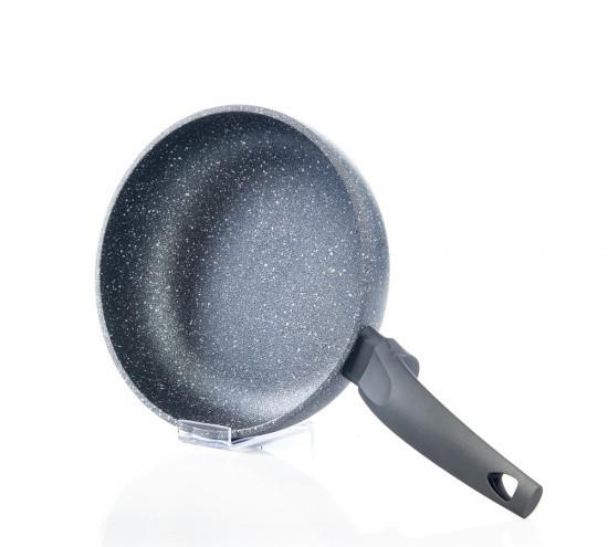 """Глубокая сковорода """"Grey Stone"""" 20х5.5см с индук. дном алюм. с каменным антипригарным покрытием Fissman"""