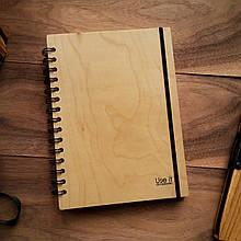 "Деревянный блокнот ""Клён"" А5 (бумага 148х210 мм)"