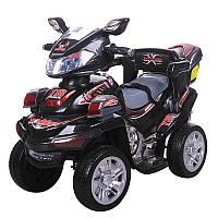 Квадроцикл M 0633EBR-2 (1шт) р/у2,4G,мотор12V,аккум6V/7Ah,колесаEVA,101-42-64,5см,багажн,черный