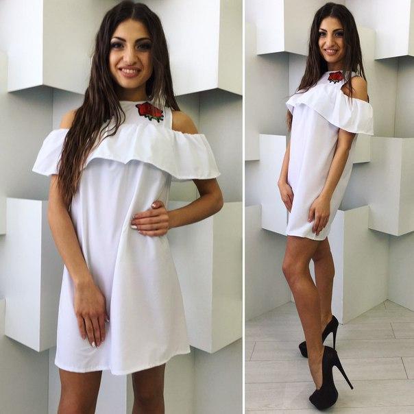 1c89df0795e Женское свободное летнее платье с рюшами в размере S-M -