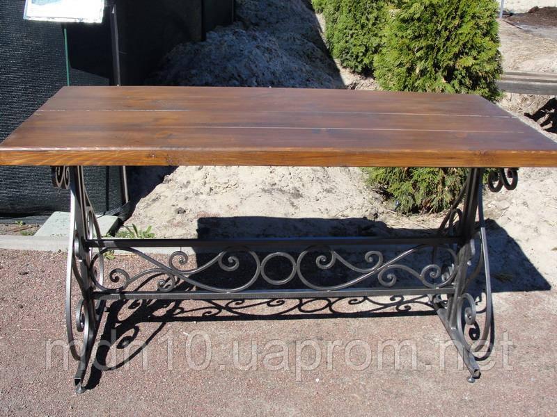 Стол садовый кованый (160х70 см)