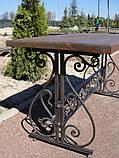 Каркас стола садового кованого ( 120x60 см), фото 7