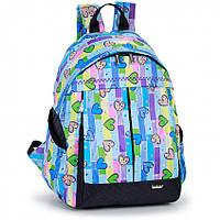 Рюкзак школьный Dolly 597 ортопедический на одно отделение для девочки 30 см х 40см х 25 см с рисунком