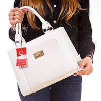 Белая деловая модельная сумка 1378wnr