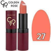 Губная помада матовая Golden Rose Velvet Matte Lipstick Тон 27 Nude