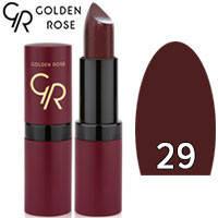 Губная помада матовая Golden Rose Velvet Matte Lipstick Тон 29 Burgundy