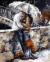 "GX 7538 ""Любовь под дождем"" Картина по номерам на холсте 40х50см без коробки, в пакете"