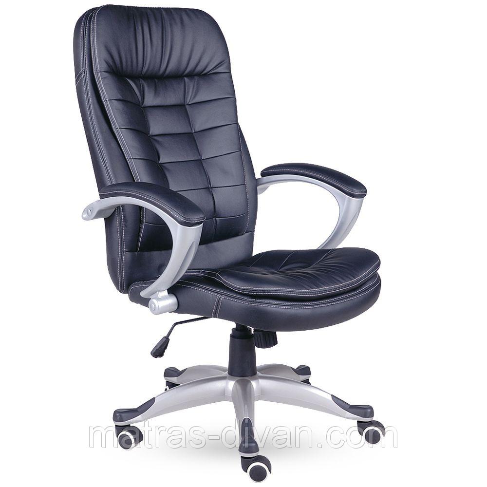 Кресло Вариус HB кожзаменитель чёрный (J-9031 BLACK).