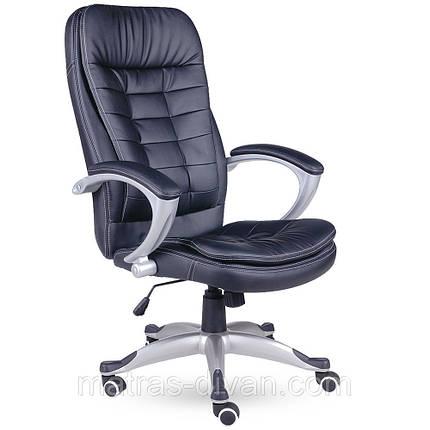 Кресло Вариус HB кожзаменитель чёрный (J-9031 BLACK)., фото 2