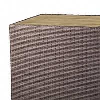 Столешница с террасной доски для журнального столика 500x500  из искусственного ротанга Kombo