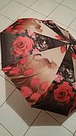 Зонт Susino цветы и тигр  женский