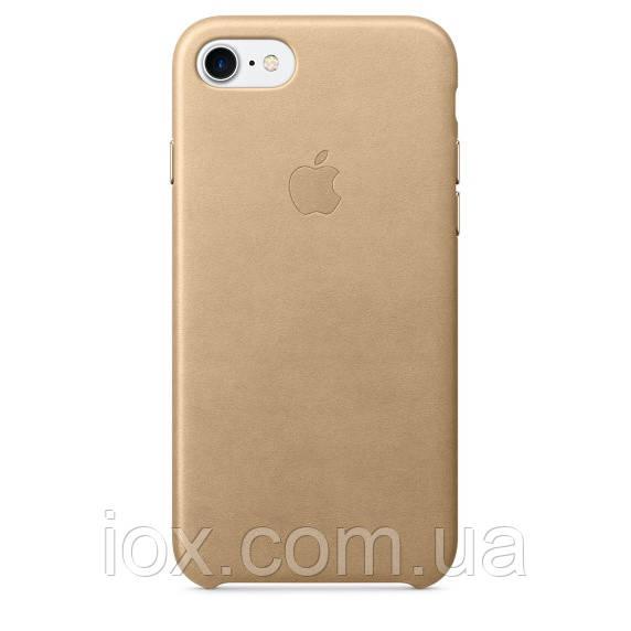 Оригинальная золотая накладка-чехол из кожи для iPhone 7 и iPhone 8