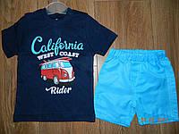 Летний костюмчик Калифорния для мальчика 1,2,3 года