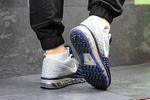 Кроссовки Nike Flyknit Max серые с синим, летние,сетка 40р, фото 2