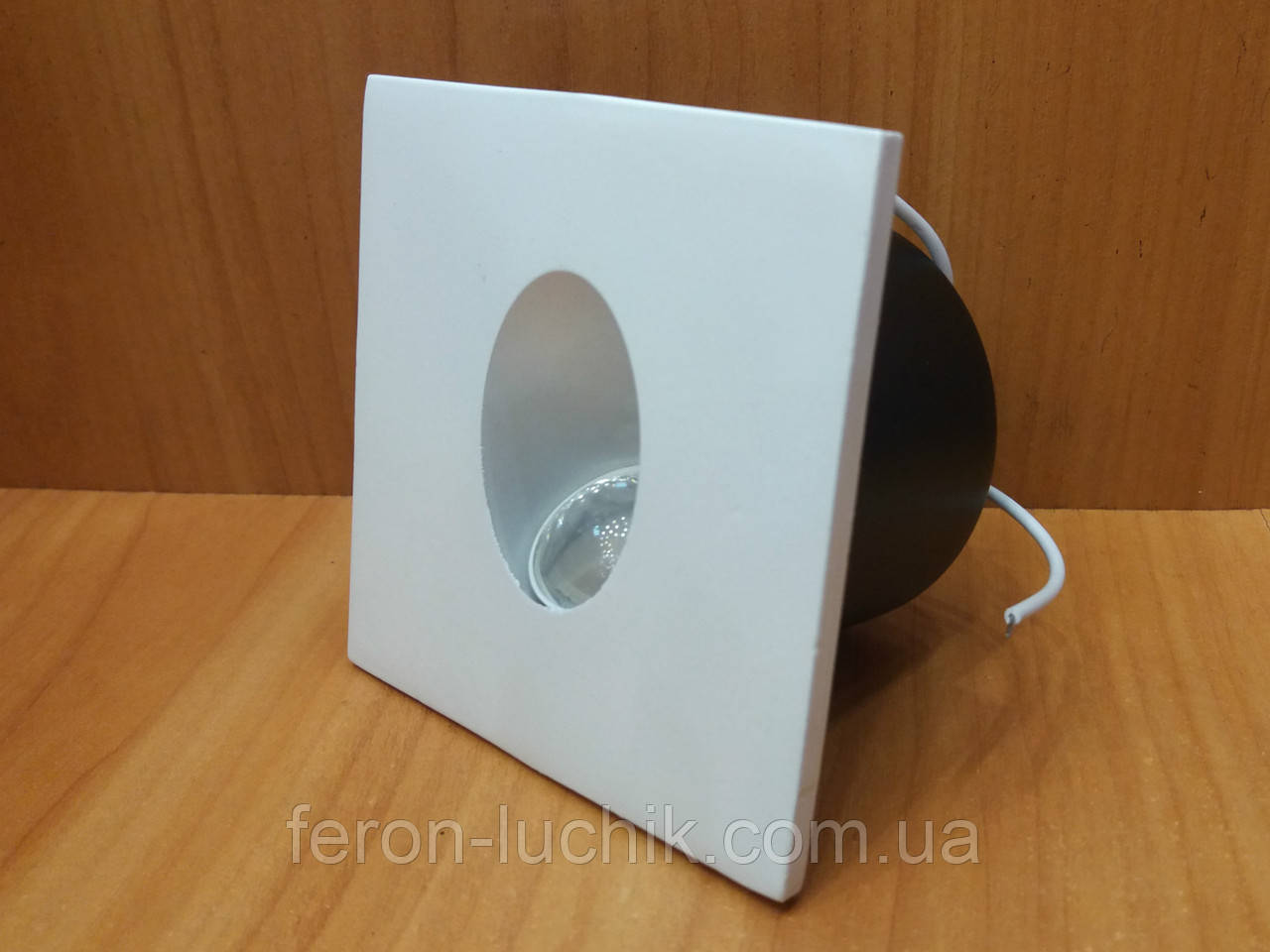 Светодиодный LED светильник для подсветки ступеней, лестниц HOROZ 3W 4000K (белый свет) квадрат