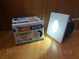 Світлодіодний світильник LED підсвічування сходів, сходів HOROZ 3W 4000K (білий світ) квадрат
