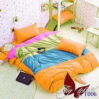 Полуторный комплект постельного белья Color mix APT006 ТМ TAG