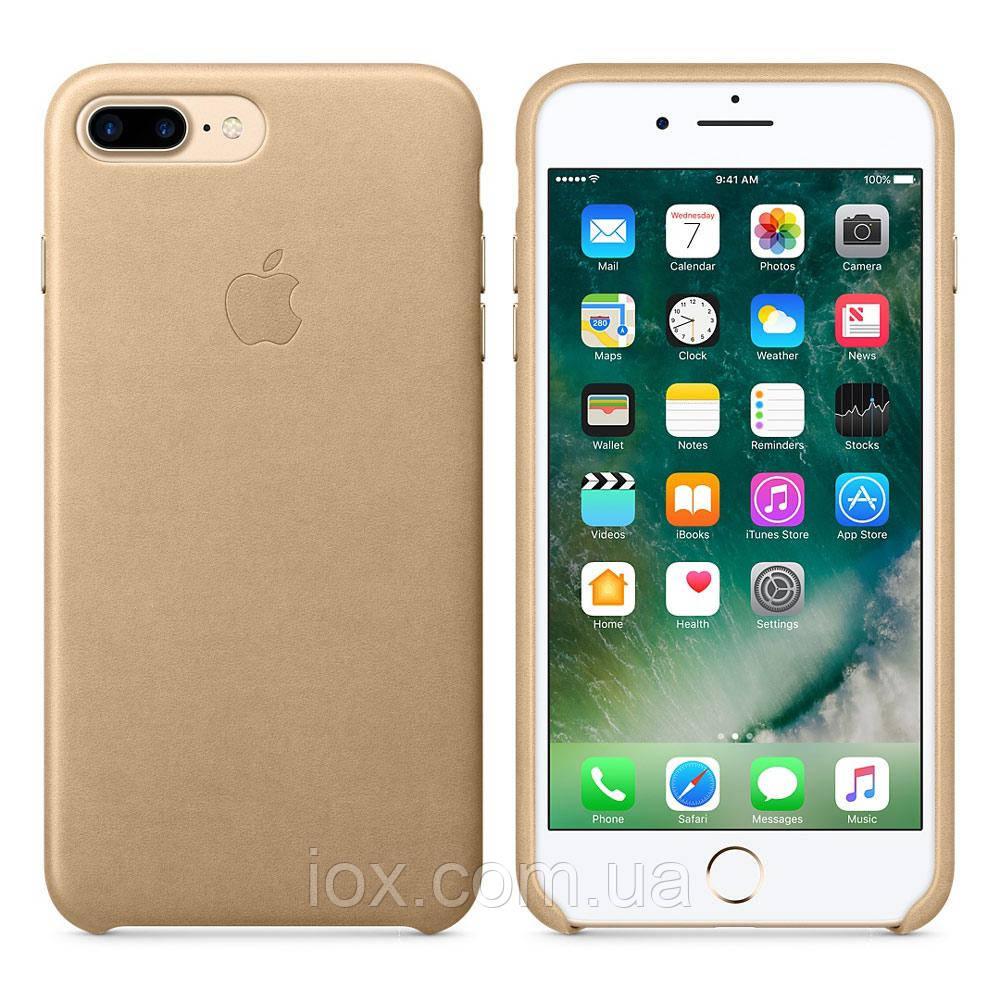 Оригінальний золотий шкіряний чохол для Iphone 7 Plus