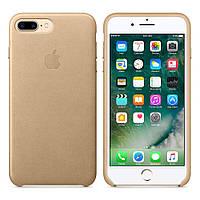 Оригінальний золотий шкіряний чохол для Iphone 7 Plus, фото 1