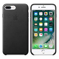 Оригинальный черный кожаный чехол для Iphone 7 Plus