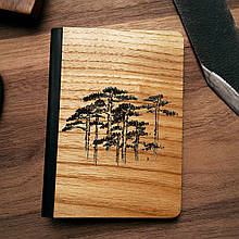 """Деревянная обложка для паспорта """"Сосны"""""""