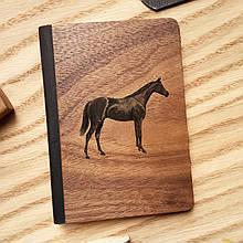 """Деревянная обложка для паспорта """"Лошадь"""""""
