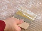 нанесение белой лазури на стеклообои велтон