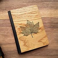 """Деревянная обложка для паспорта """"Кленовый лист"""""""