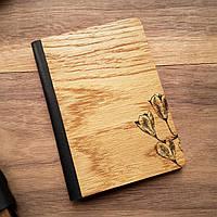 """Деревянная обложка для паспорта """"Колокольчики"""""""