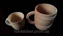 Чашка(кружка пивная )большая деревянная  оптом