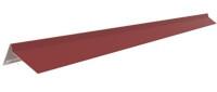 Торцевая планка (2 п/м)  под битумную черепицу Красный