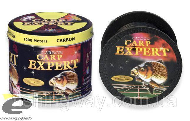 Леска CARP EXPERT  0,25mm 1000m сarbon