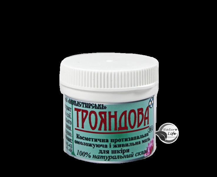 Фито-мазь  РОЗА ( Трояндова) 30 гр Монастырские мази