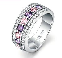 Позолоченное кольцо с цирконами код 1148 р 17