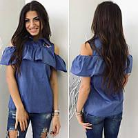 Женская  нарядная блуза с воланом  под джинс размер s-m
